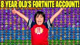 8 YEAR OLD GIVES ME HIS RARE EXCLUSIVE FORTNITE ACCOUNT… Here's What I Found! (Fortnite Lockers!)