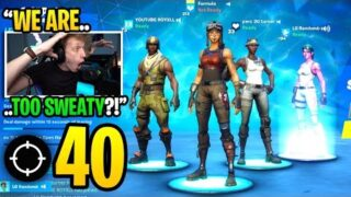 THIS is what happens when the 4 RAREST SKINS squad in Chapter 2 Fortnite… (super intense)
