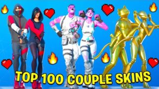 Top 100 Couple Skins With Best Fortnite Dances & Emotes!