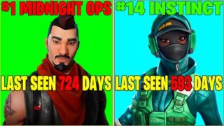 50 FORTNITE SKINS THAT HAVEN'T BEEN IN THE ITEM SHOP FOR OVER A YEAR! (RARE SKINS RETURNING!)