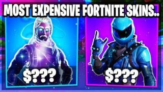 TOP 10 MOST EXPENSIVE FORTNITE SKINS YOU CAN'T AFFORD!