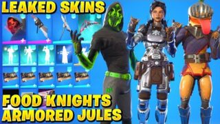 All NEW Leaked Skins & Emotes! *FOOD KNIGHTS* (ScrapKnight Armored Jules, Gia, Raptorian The Brave)
