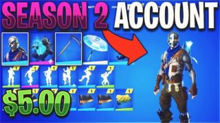Buying a STACKED Season 2 Fortnite Account for $5…